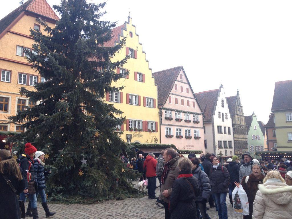 ローテンブルクの街並みの画像