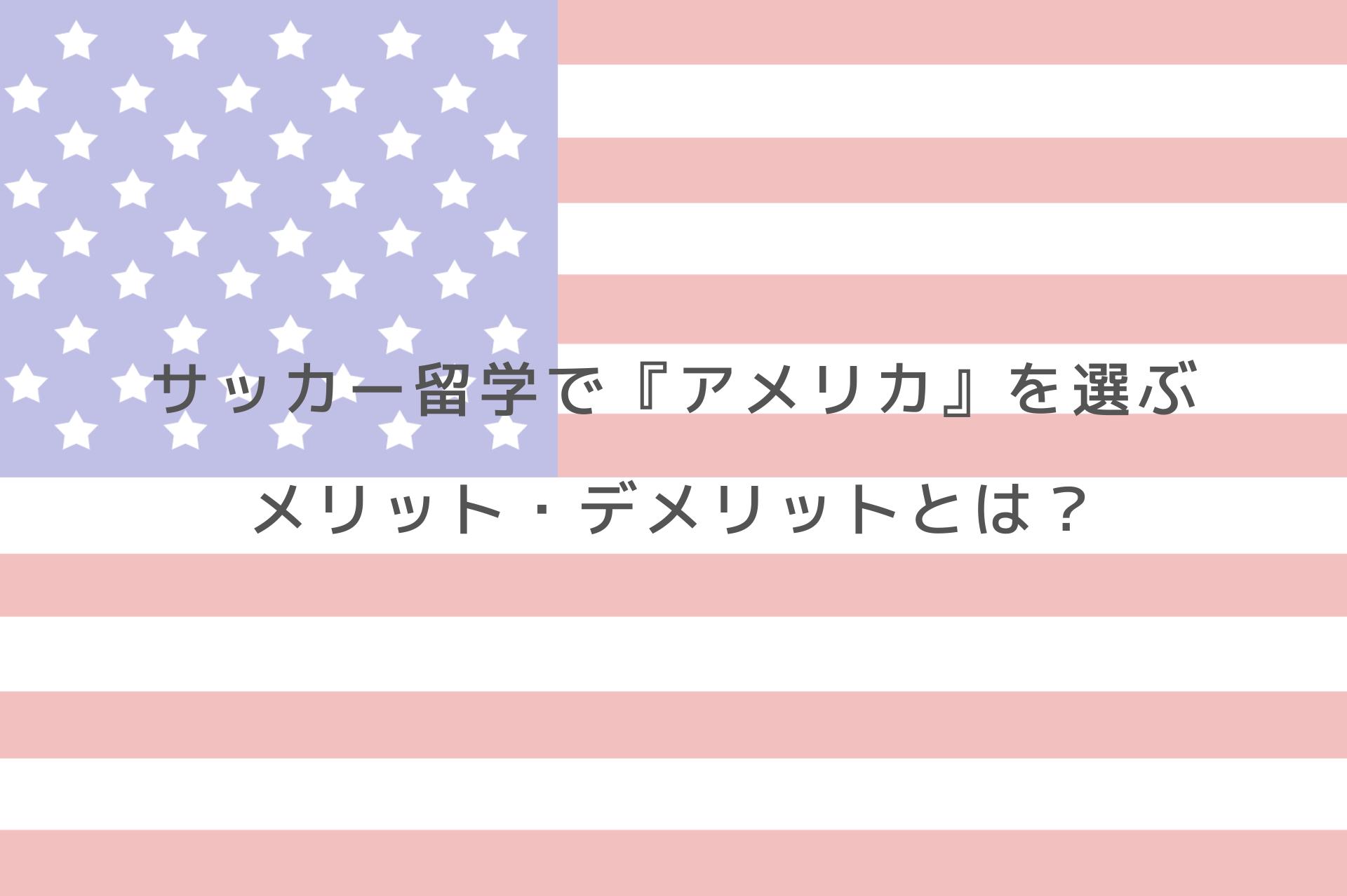 サッカー留学で『アメリカ』を選ぶメリット・デメリットとは?