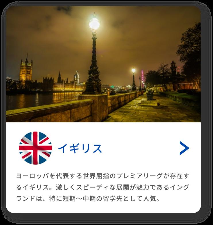 留学先の国(イギリス)
